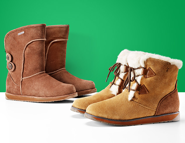 Shearling Boots feat. EMU Australia & Pegia at MYHABIT
