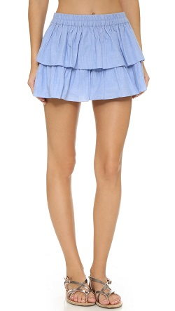 Thayer Tiered Beach Miniskirt