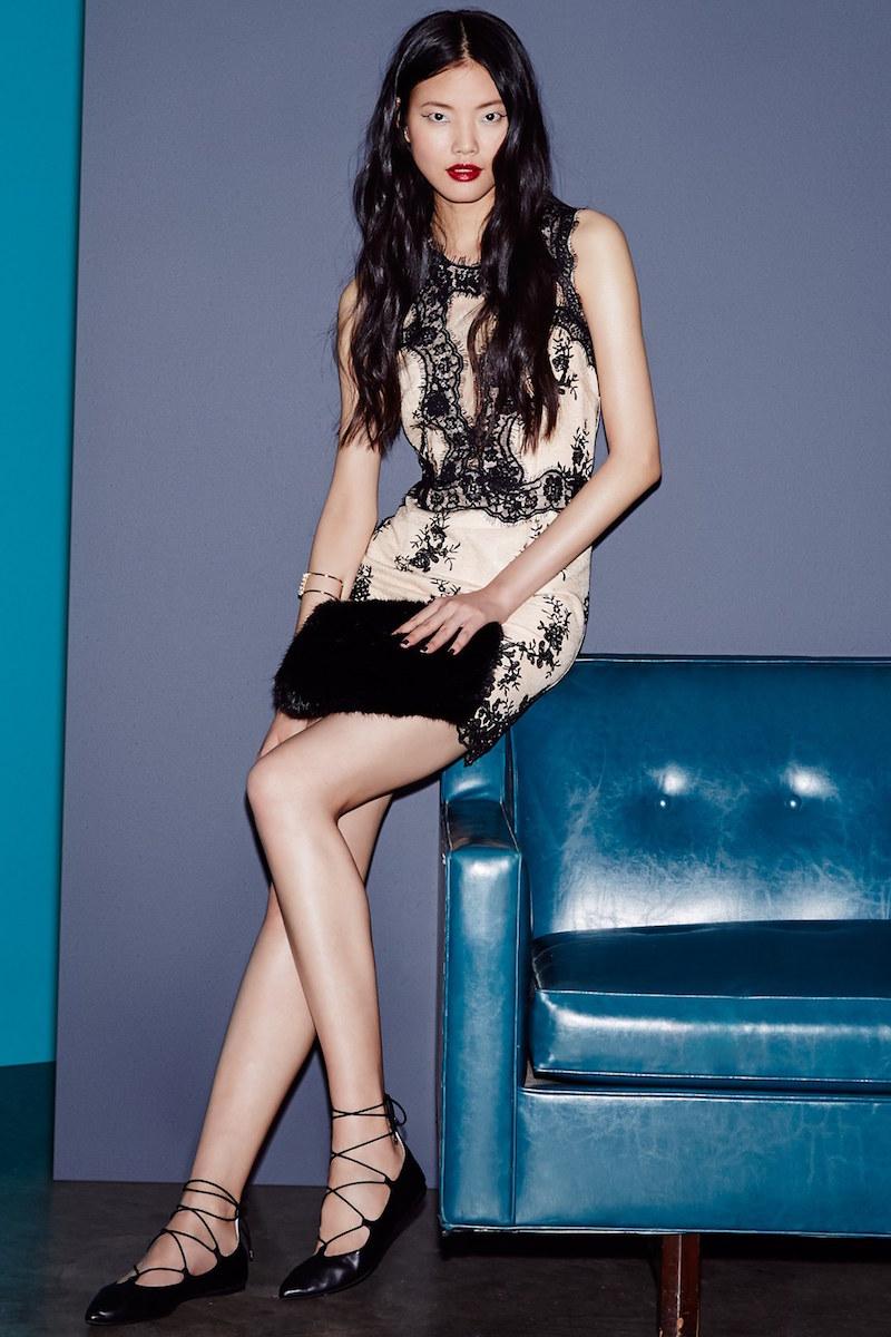 Topshop Lace Sleeveless Dress