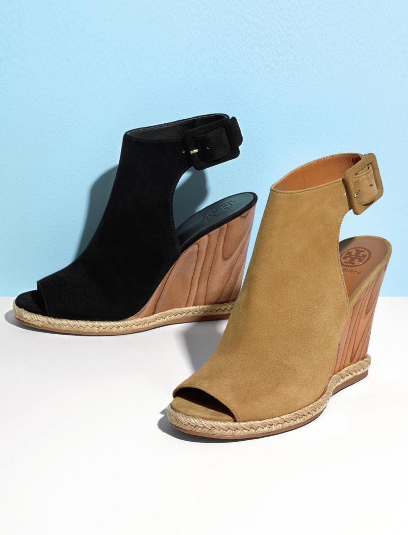 Tory Burch Raya Suede Wedge Sandals