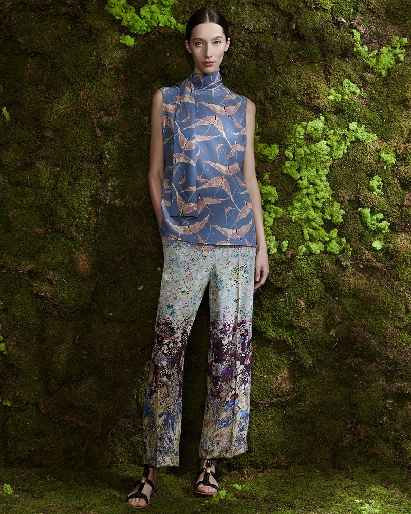 Valentino Landscape-Print Pajama-Style Pants
