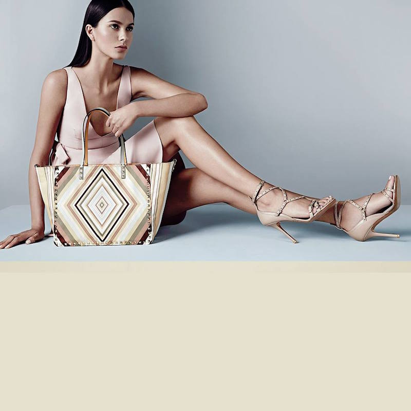 Valentino Lovelatch Grommeted Leather Sandals