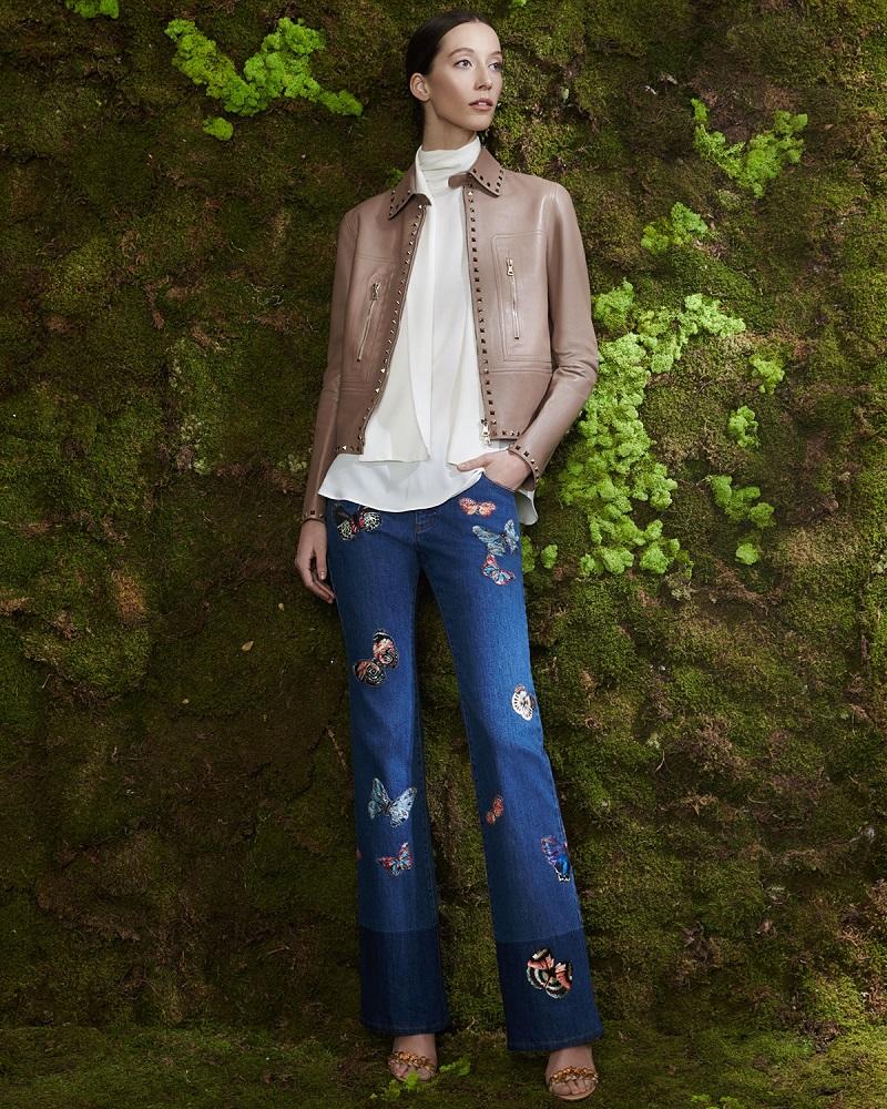 Valentino Rockstud-Trim Leather Jacket