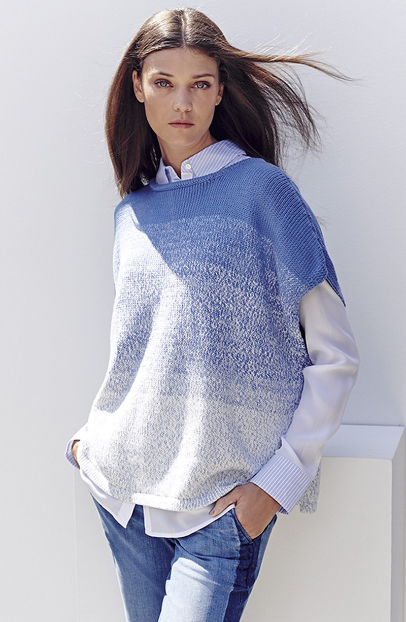 Vince Textured Sleeveless Cocoon Sweater