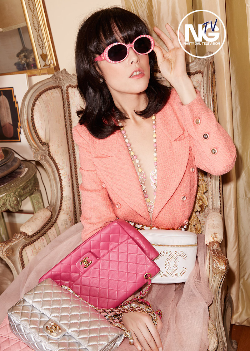 Vintage Chanel 2.55 Quilted Pink Leather Bag