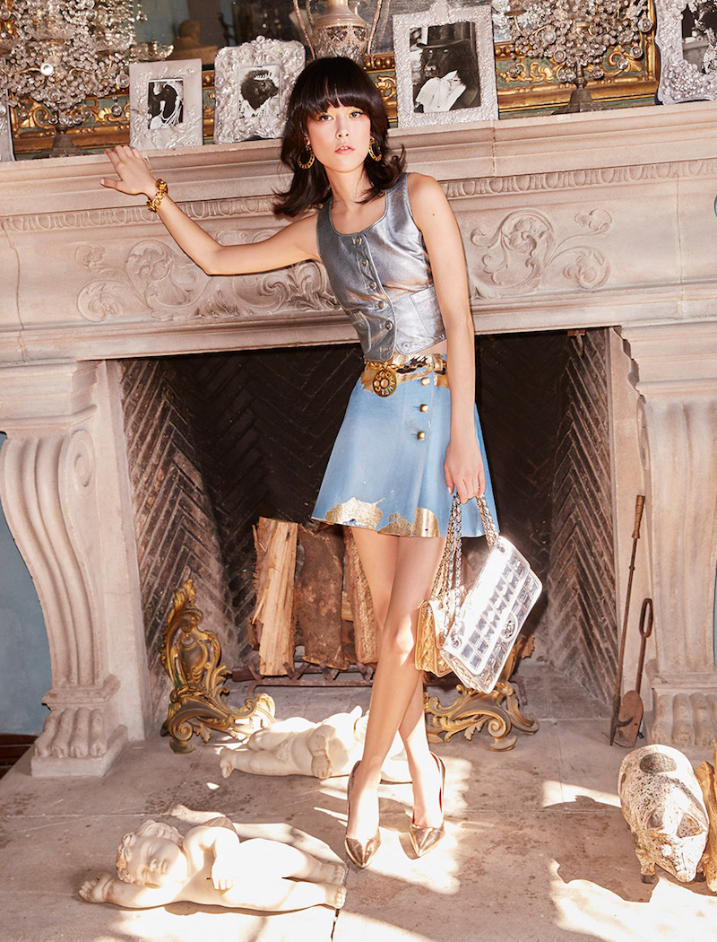 Vintage Chanel Eustacia Calfskin Skirt