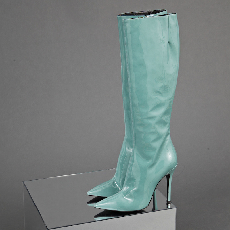 Yang Li Patent Knee High Leather Boots