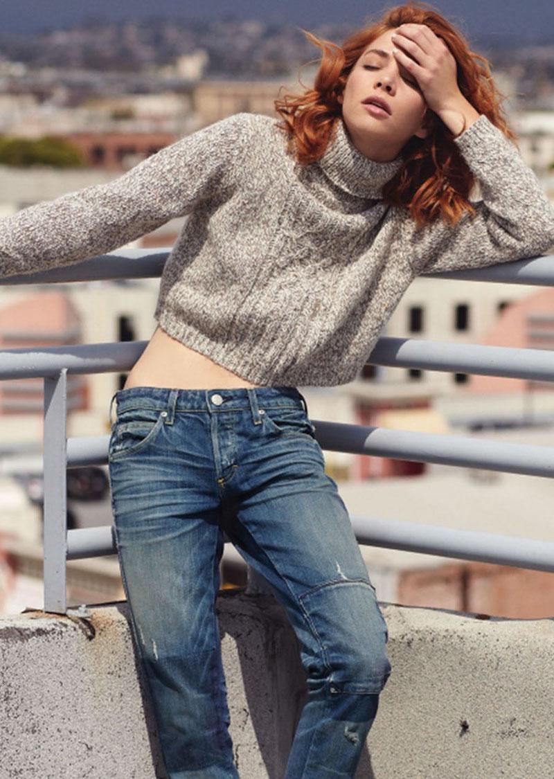 AMO Tomboy Patchwork Detail Jeans