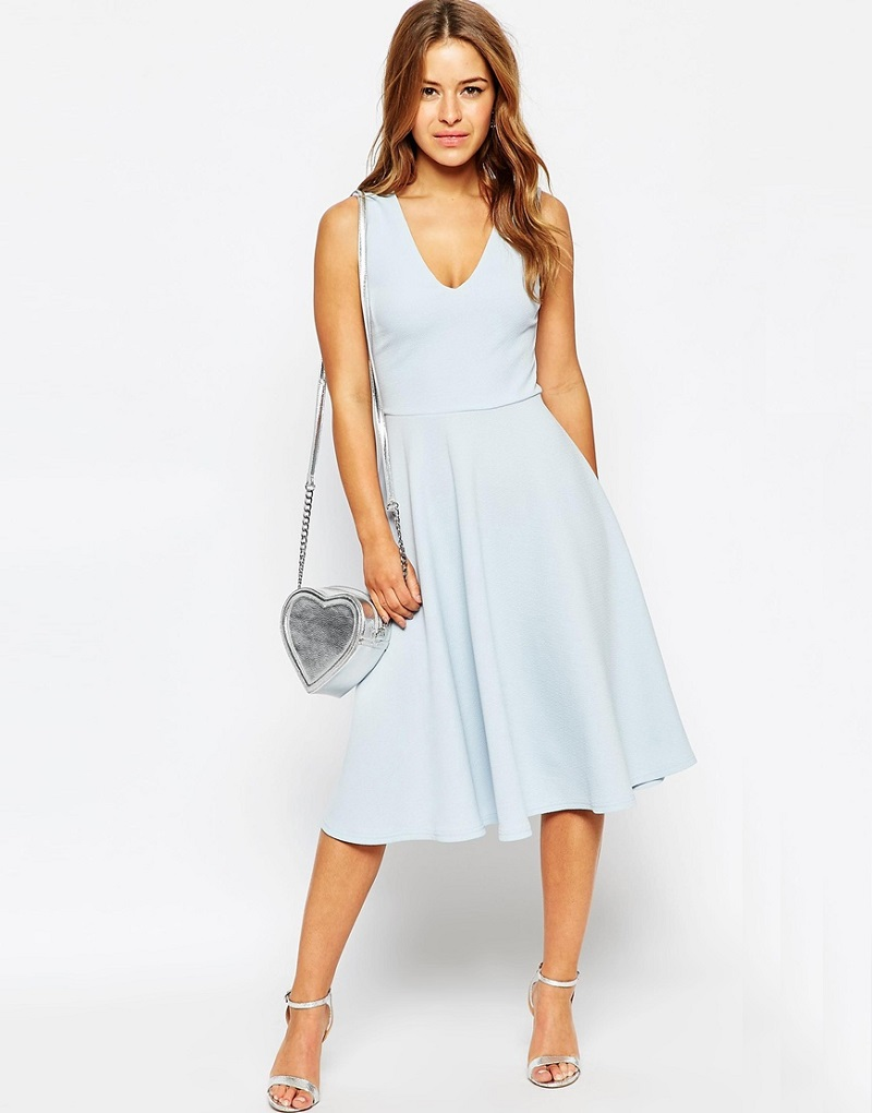 ASOS PETITE Midi Dress in Texture