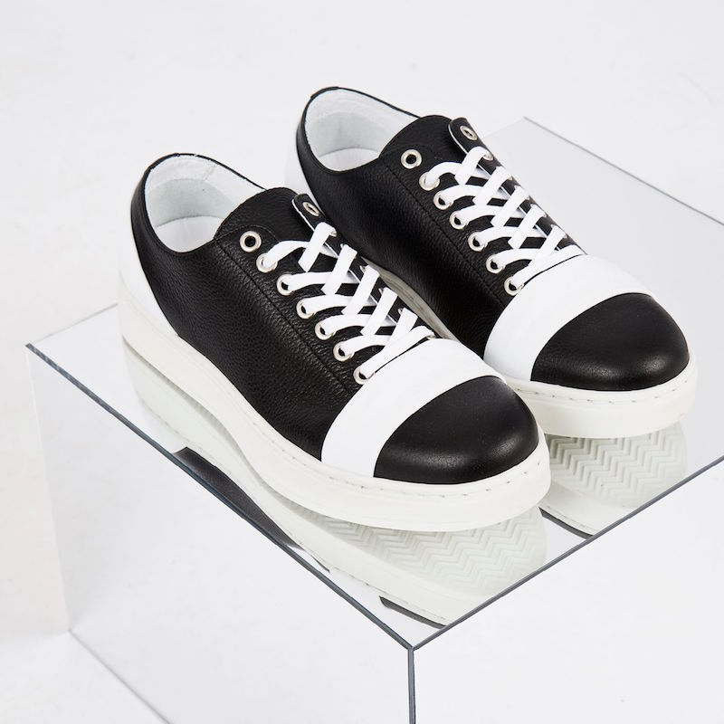 Achilles Ion Gabriel Lace-up Leather Sneakers