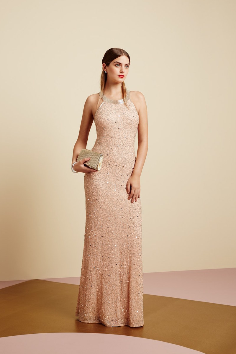 Adrianna Papell Caviar Illusion Back Beaded Gown_1