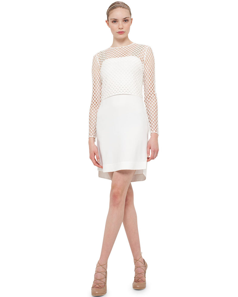 Akris punto Long-Sleeve Jersey T-Shirt Dress