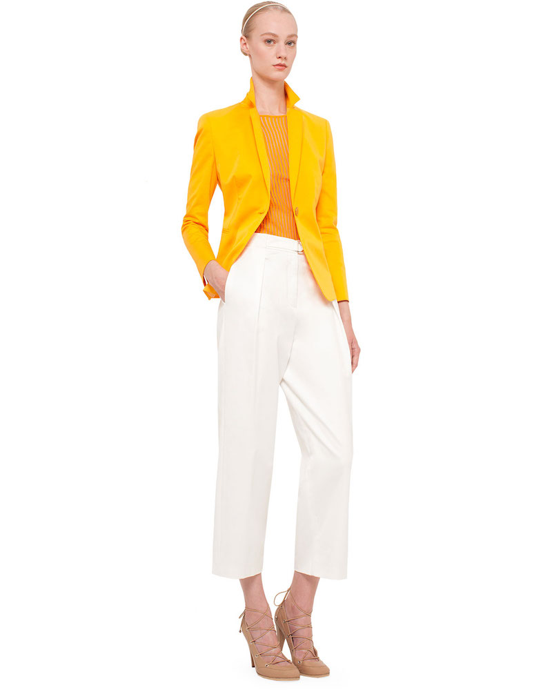 Akris punto Pleated-Front Wide-Leg Cropped Pants
