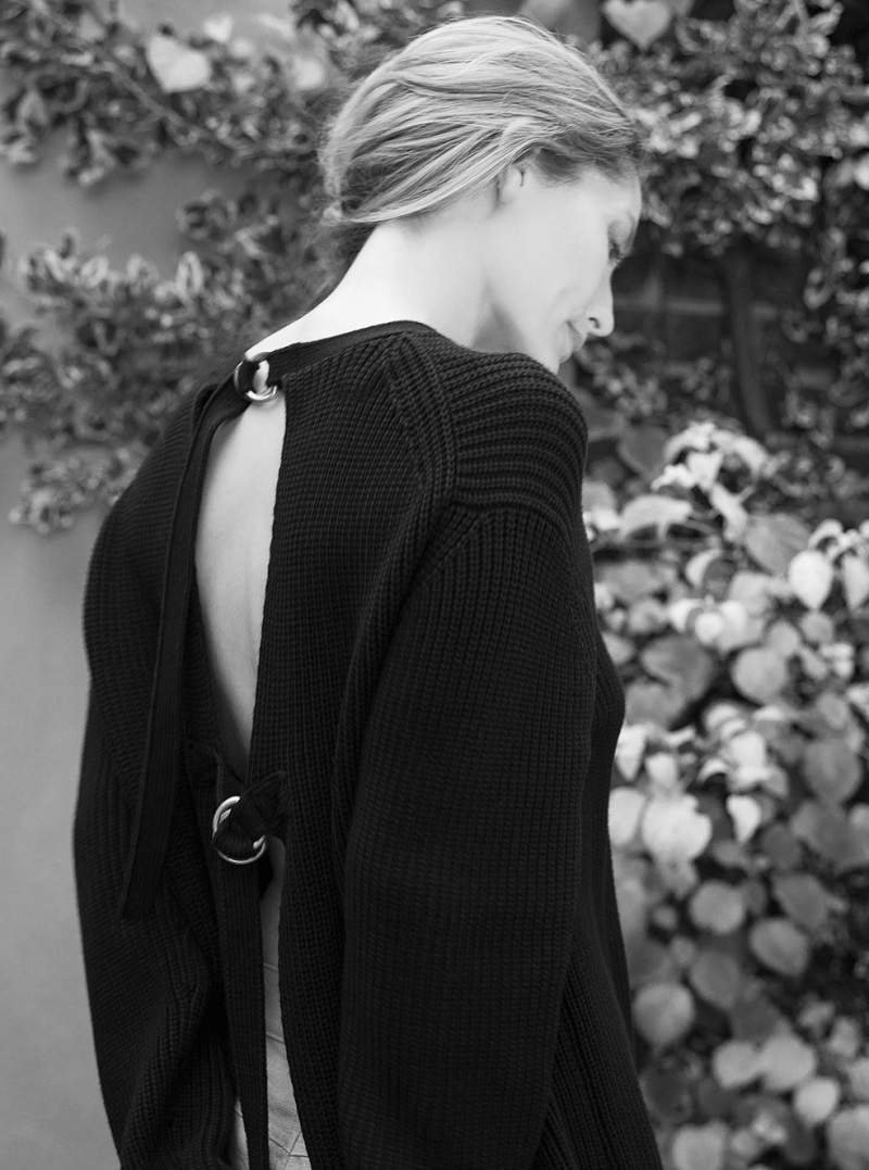 Alexander Wang Open-back ribbed-knit sweater