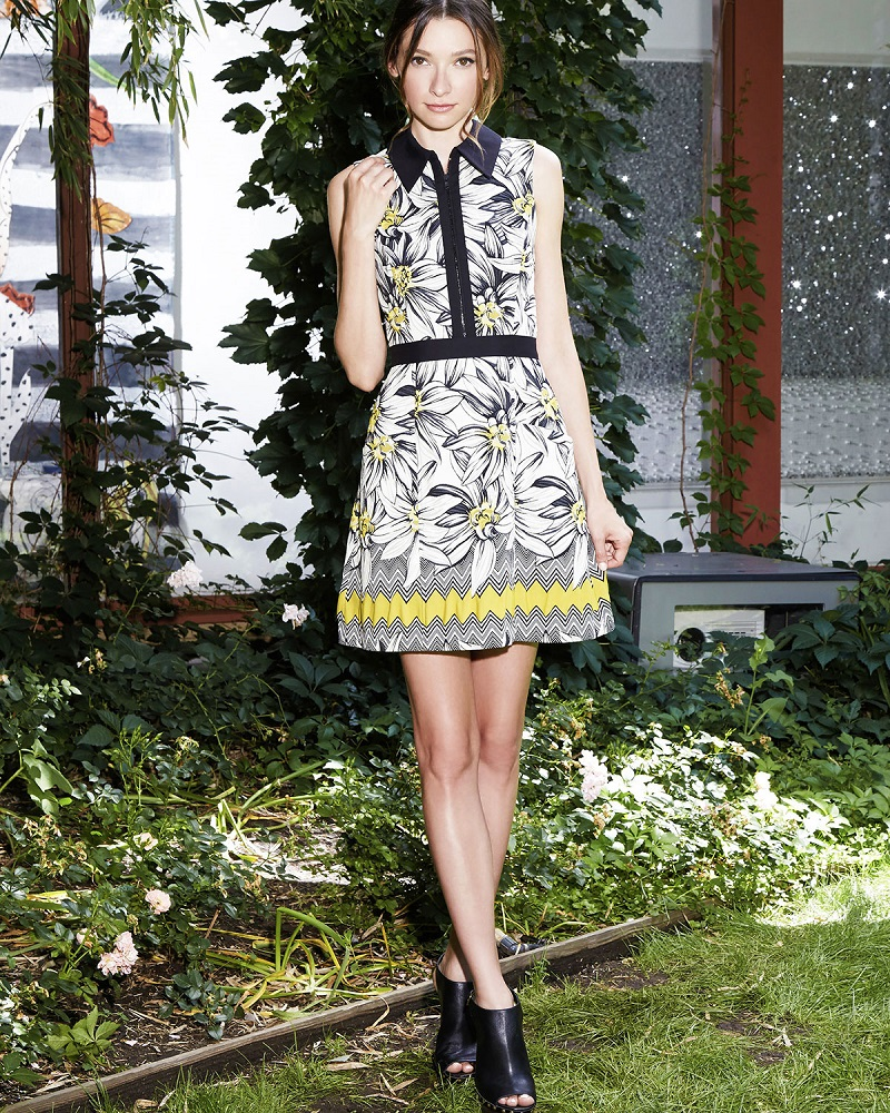 Alice + Olivia Elli Collared Floral Shirtdress