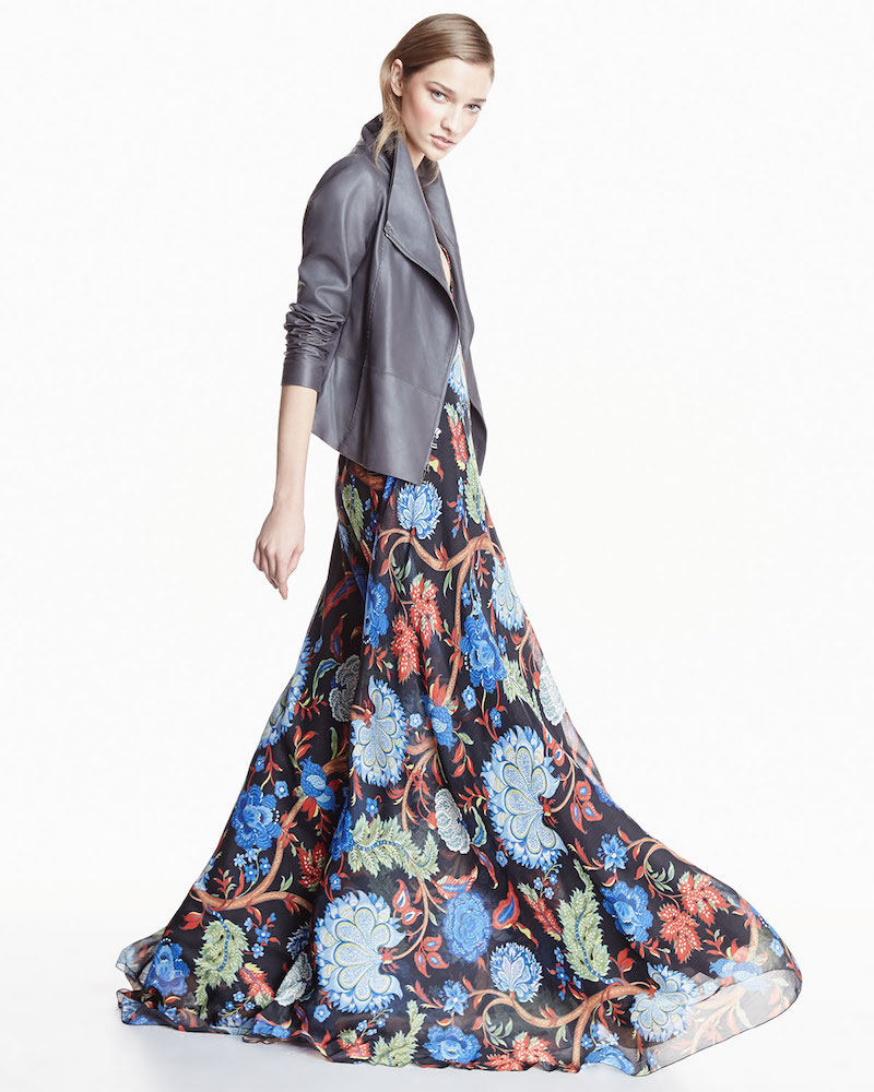 Alice + Olivia Sleeveless Celina Alder Floral Maxi Dress