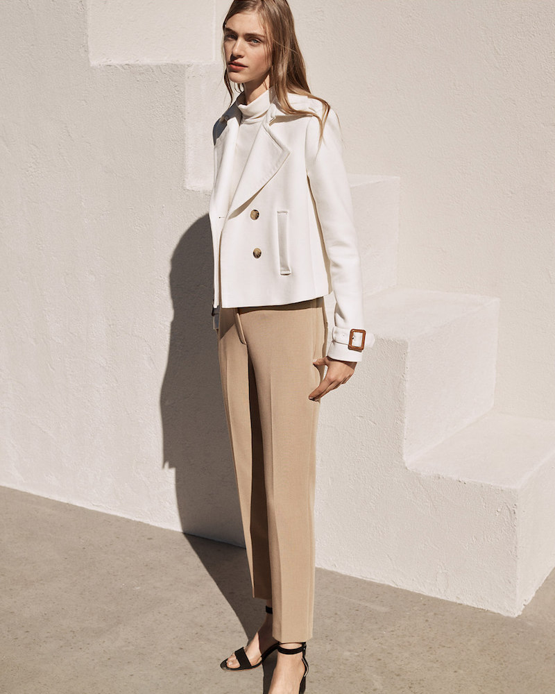 Ann Taylor Cropped Trench