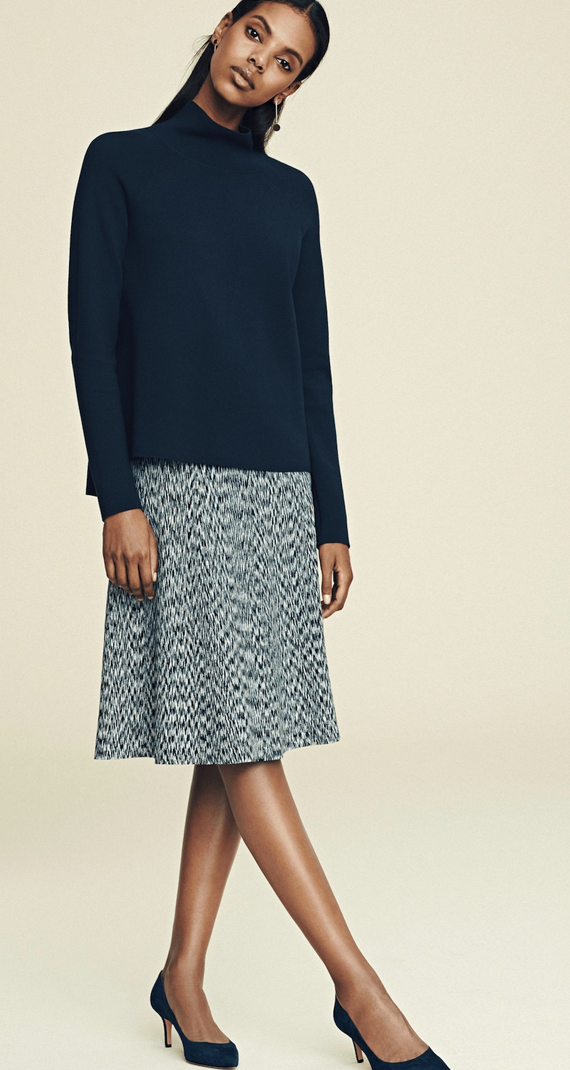 Ann Taylor Spacedye Flared Knit Skirt