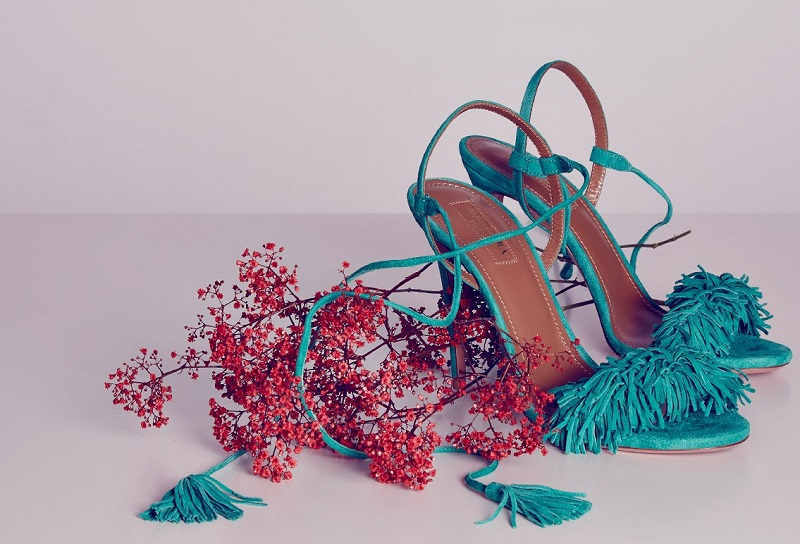 Aquazzura Wild Thing suede fringed sandals