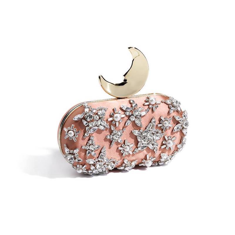 Benedetta Bruzziches Swarovski Crystals Smiling Moon Clutch