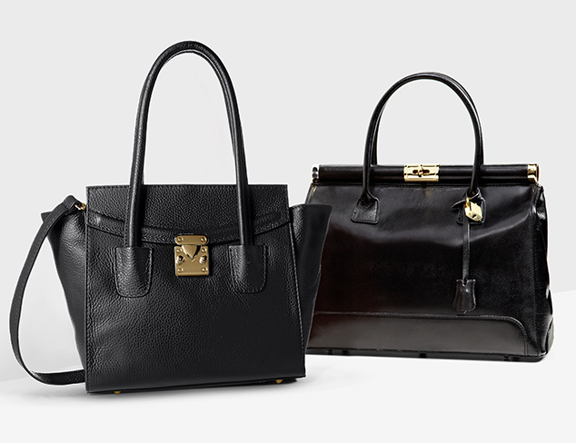 Black is Back Handbags at MYHABIT