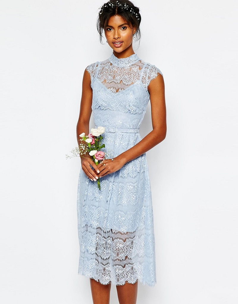 Body Frock Wedding Peony Blue Lace Dress
