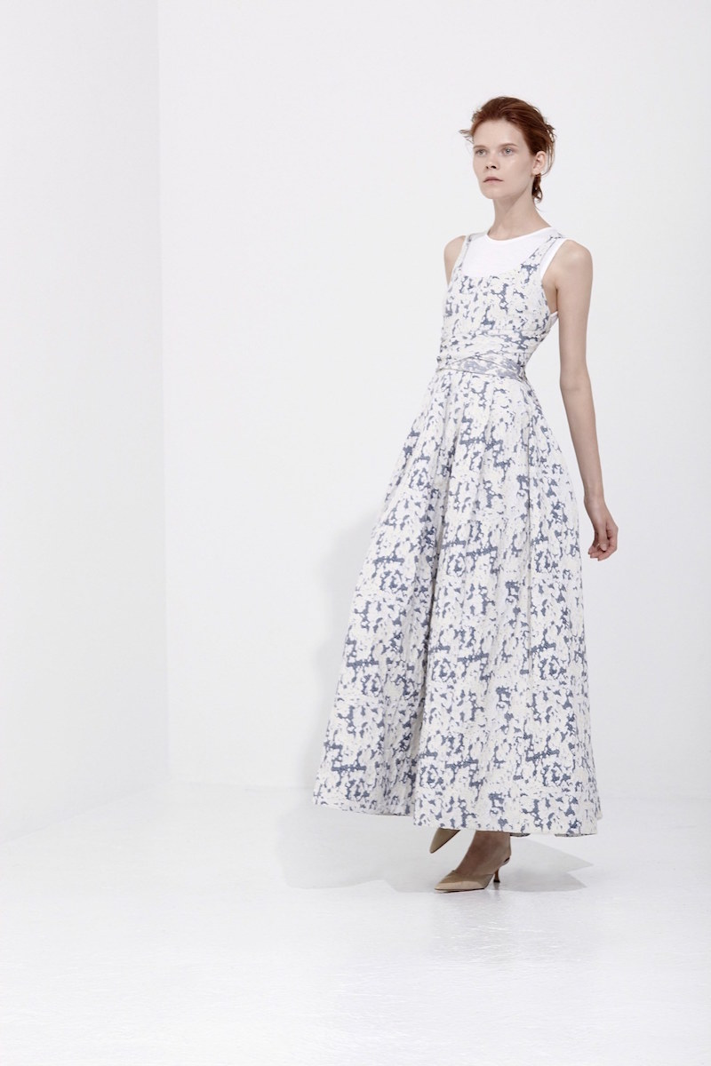 Brock Collection Daph Flocked-cloud Twill Dress