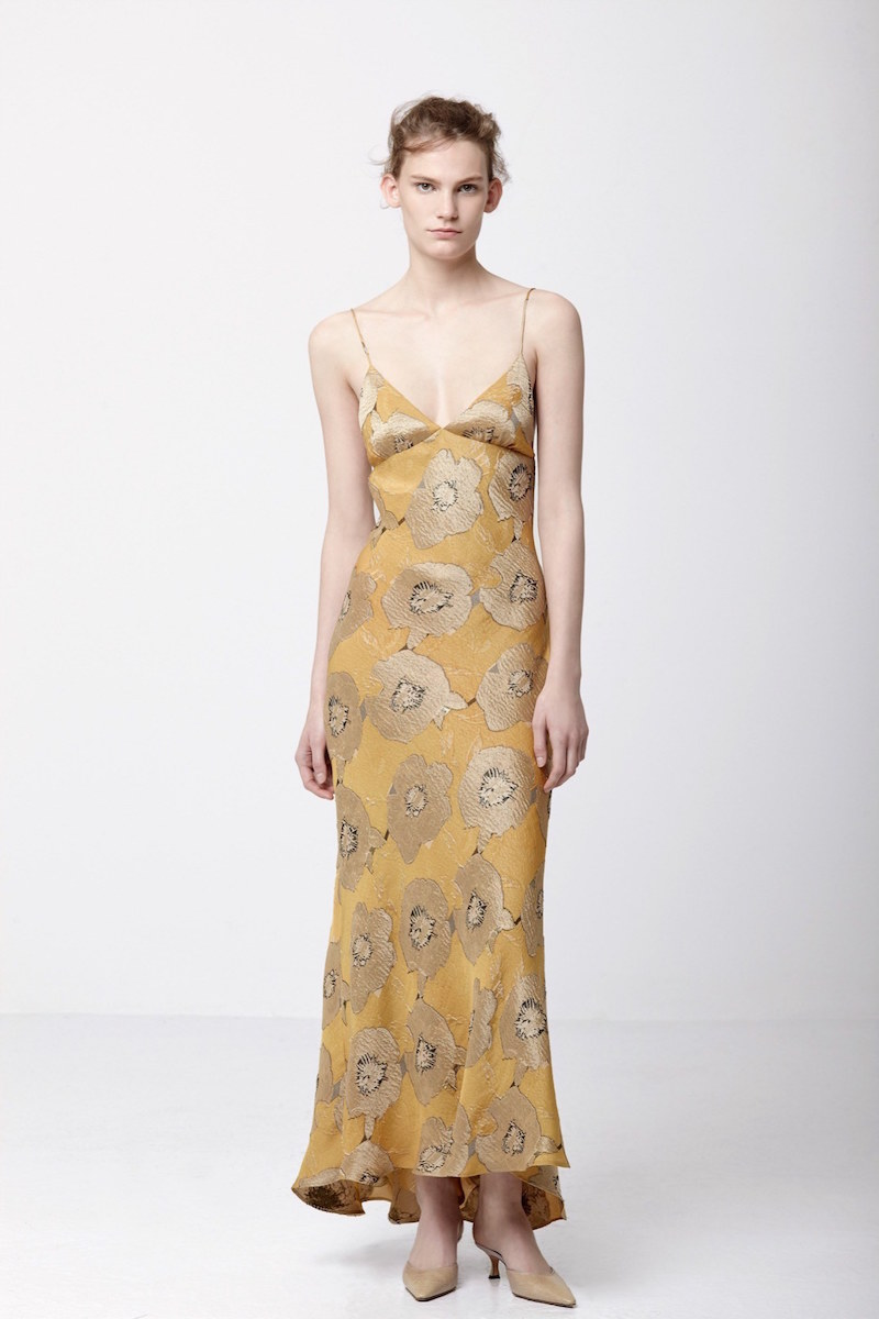 Brock Collection Dehli Floral-jacquard Slip Dress