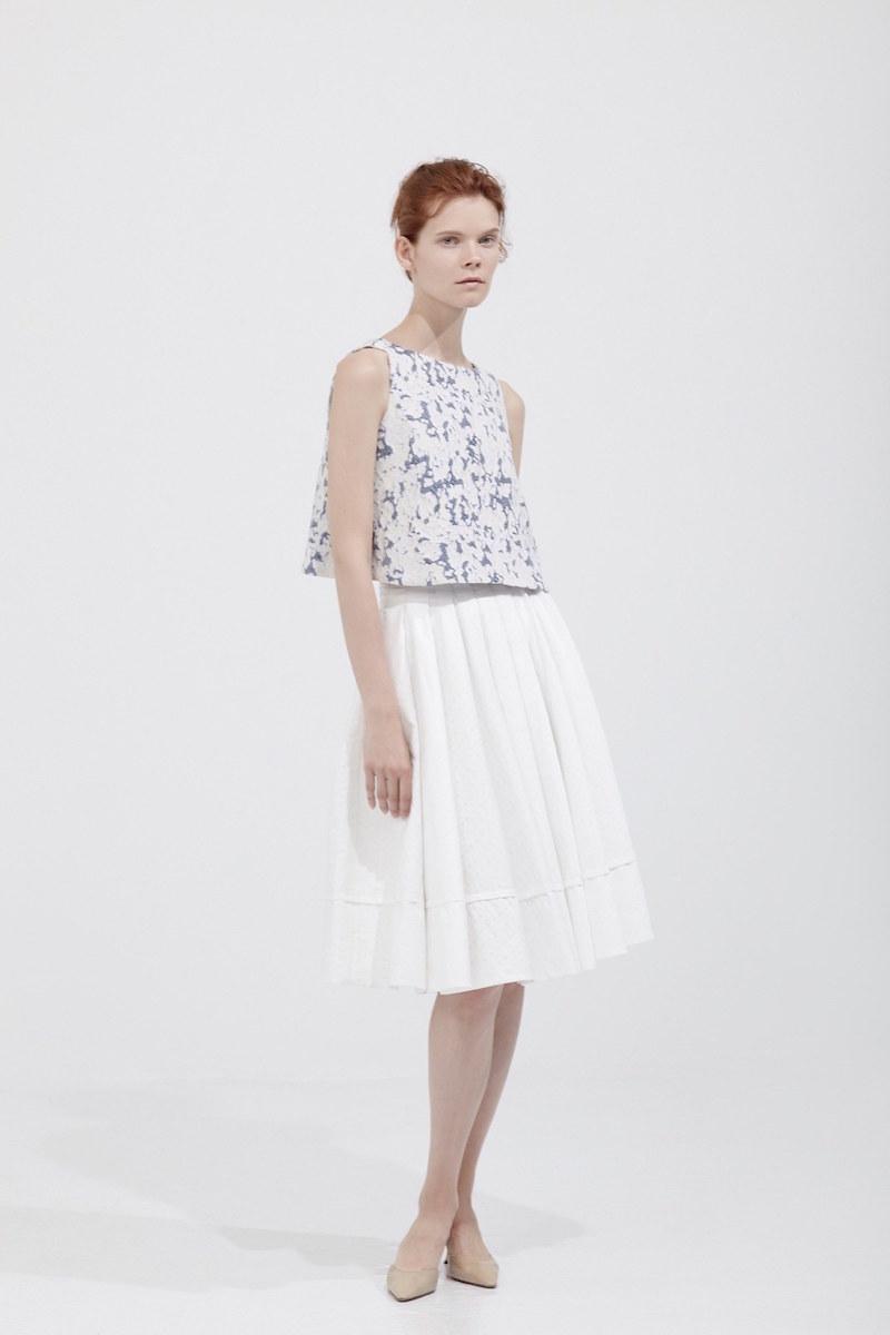 Brock Collection Sally Cotton-blend Midi Skirt