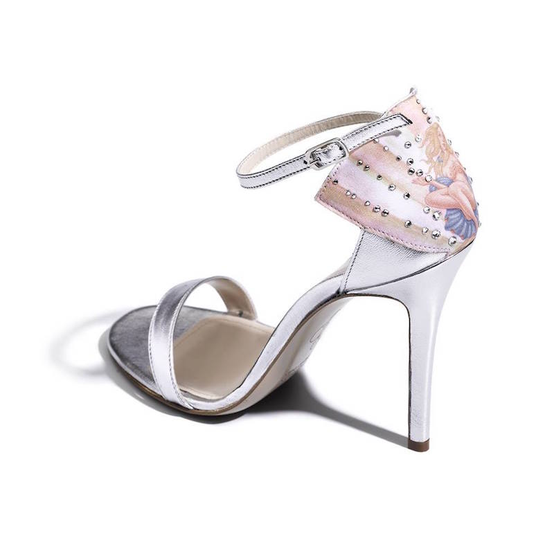 Camilla Elphick Swarovski Crystals 100mm Venus Sandals