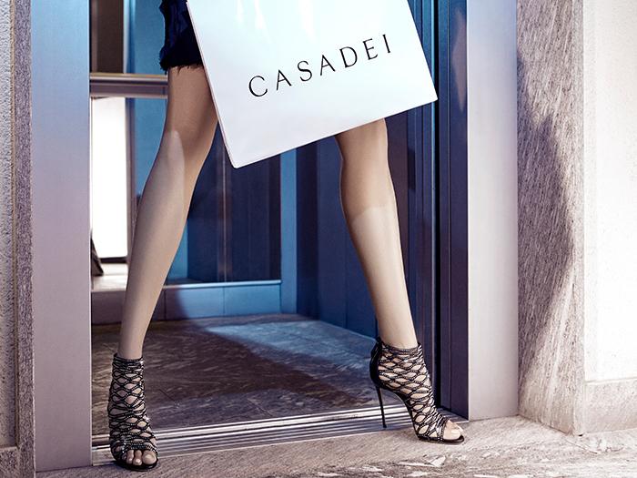 Casadei Swarovski Crystal Stretch Cage Sandals