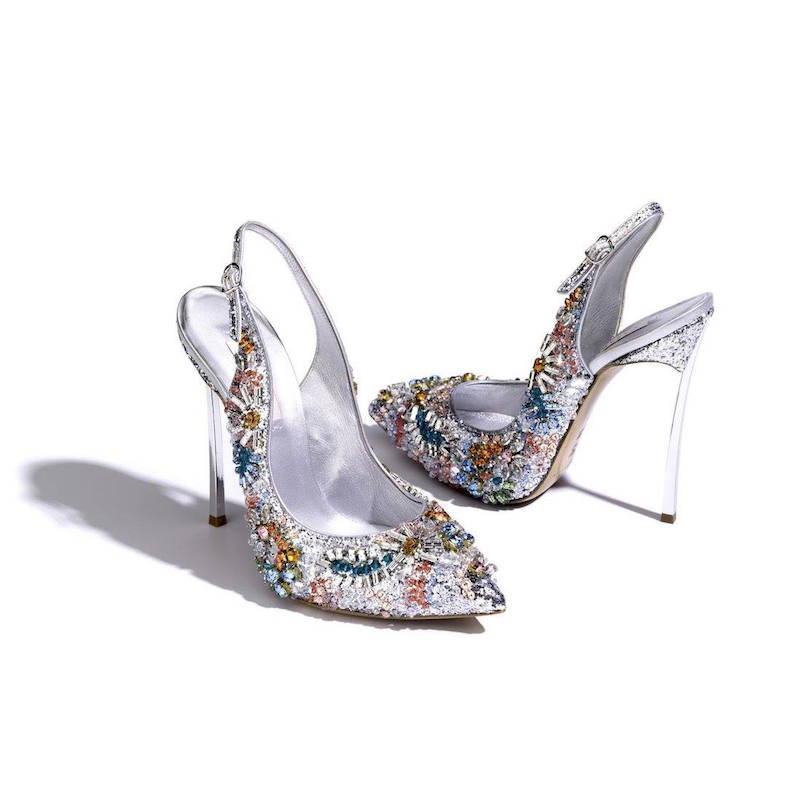 Casadei Swarovski Crystals 120mm Daisy Pumps