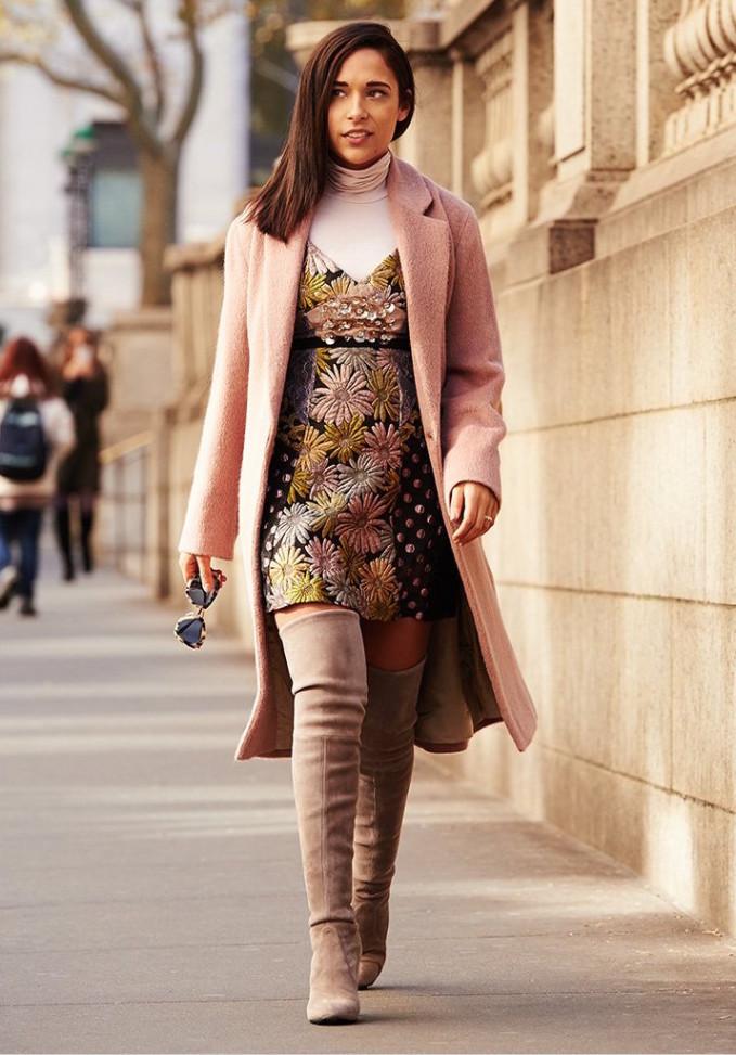 Cynthia Rowley Jacquard Patch Slip Dress