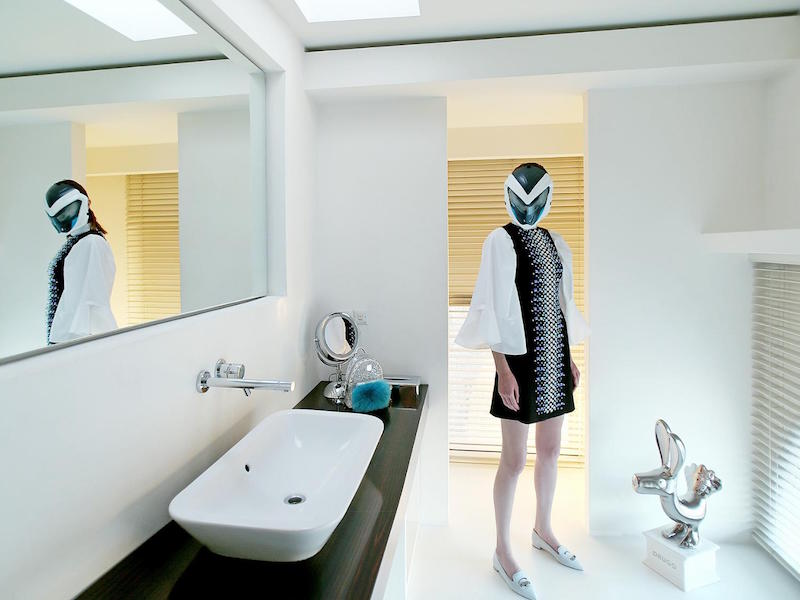David Koma Swarovski Crystals Crepe Dress