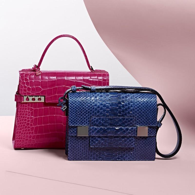 Delvaux Python Madame PM Shoulder Bag