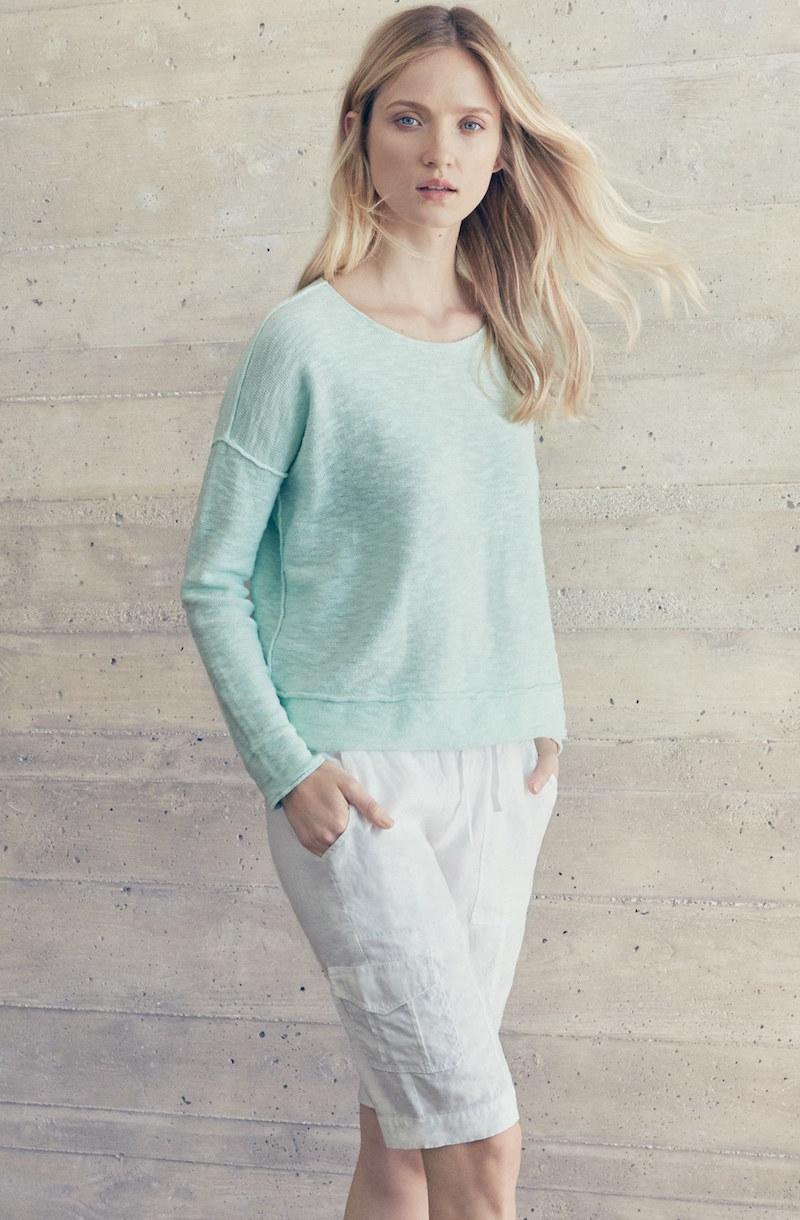Eileen Fisher Organic Linen Cargo Shorts