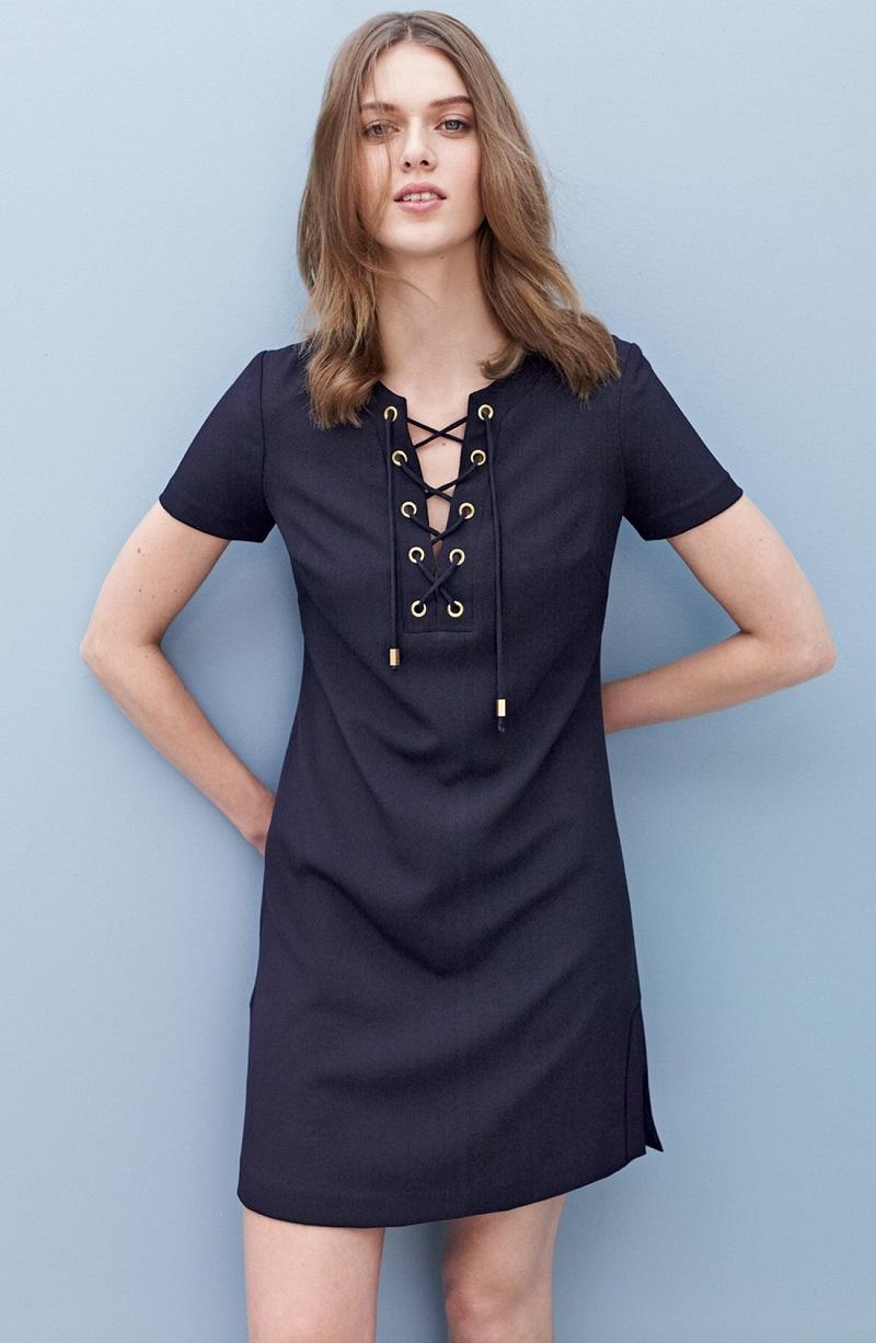 Eliza J Front Lace Shift Dress