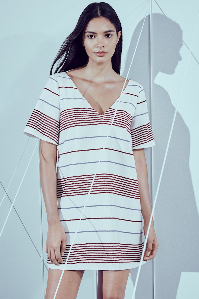 Elizabeth and James Orlando Stripe Shift Dress