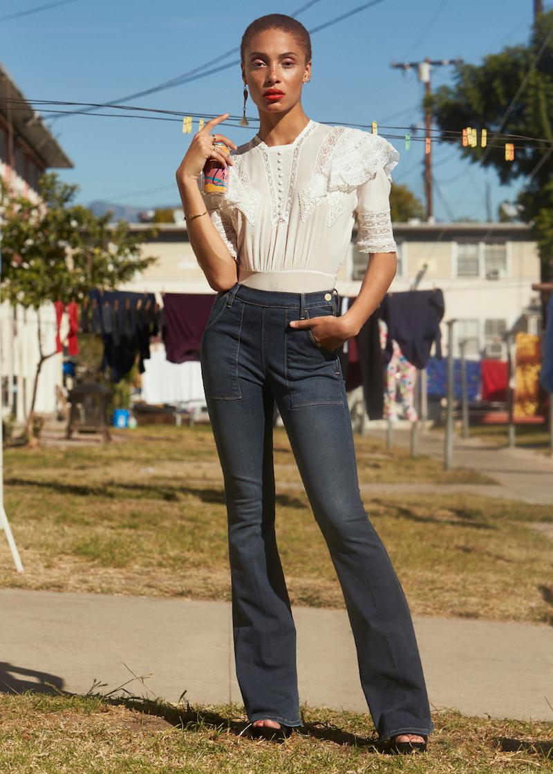 FRAME Denim Flare De Francoise Boot Cut Jeans