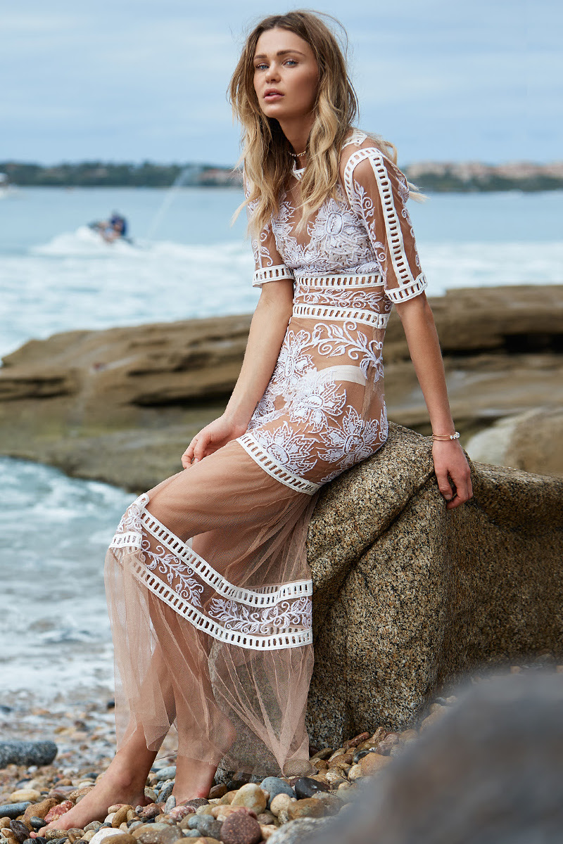 For Love & Lemons Desert Nights Maxi Dress