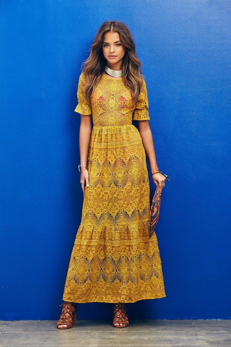 For Love & Lemons Siena Maxi Dress