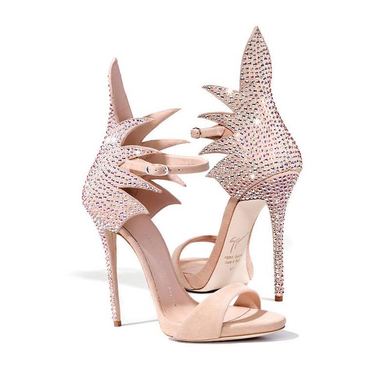 Giuseppe Zanotti Swarovski Crystals 120mm Suede Sandals