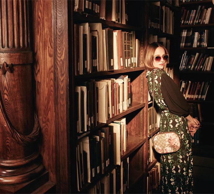 Gucci Blooms GG Supreme Leather-trimmed Printed Coated Canvas Shoulder Bag