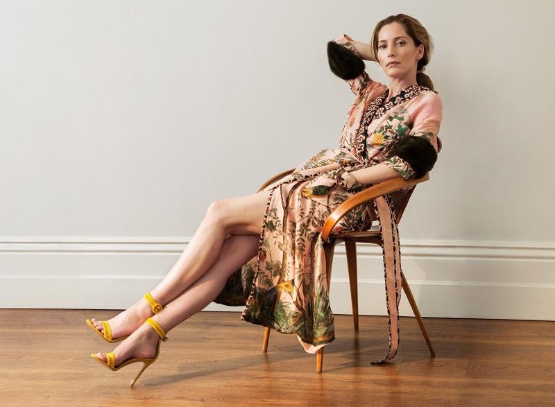 Gucci Fur-cuff Floral-Print Silk Coat