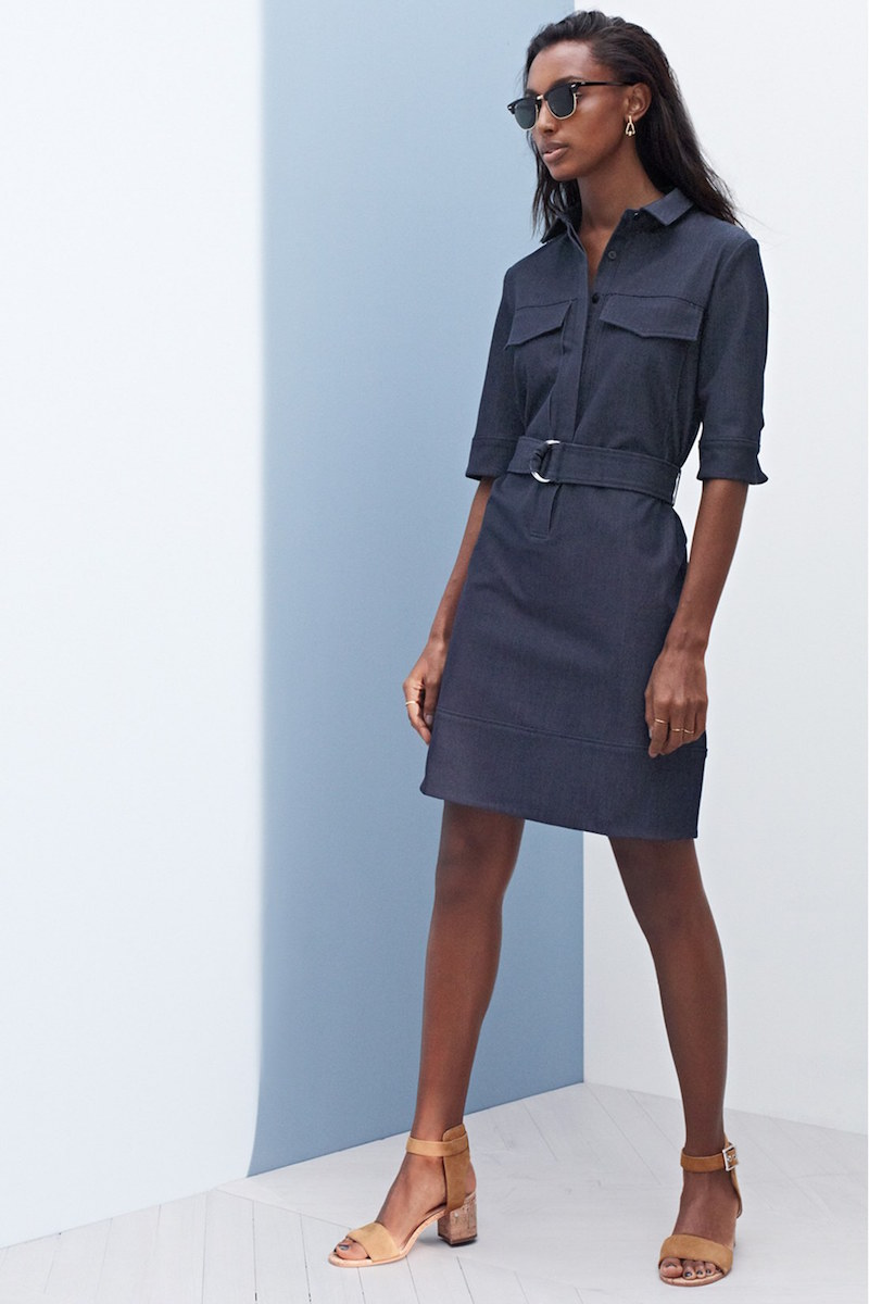 Halogen Belted Denim Shirtdress