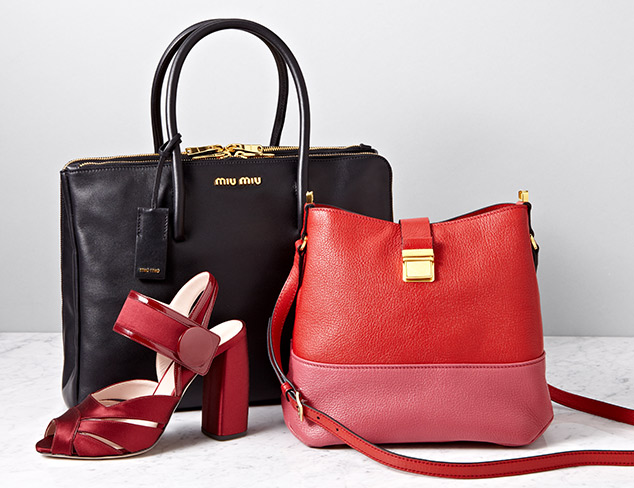 Haute Handbags Designer Styles feat. Miu Miu at MYHABIT