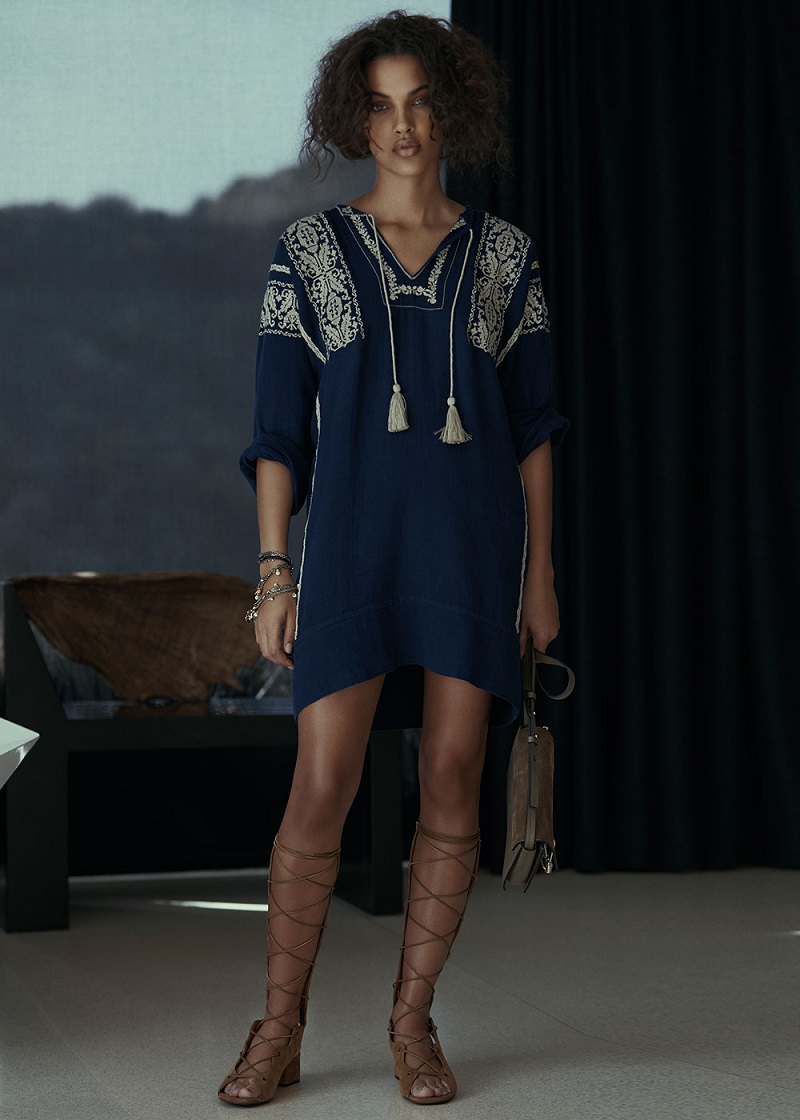 Isabel Marant Etoile Vinny Ethnic Embroidery Dress