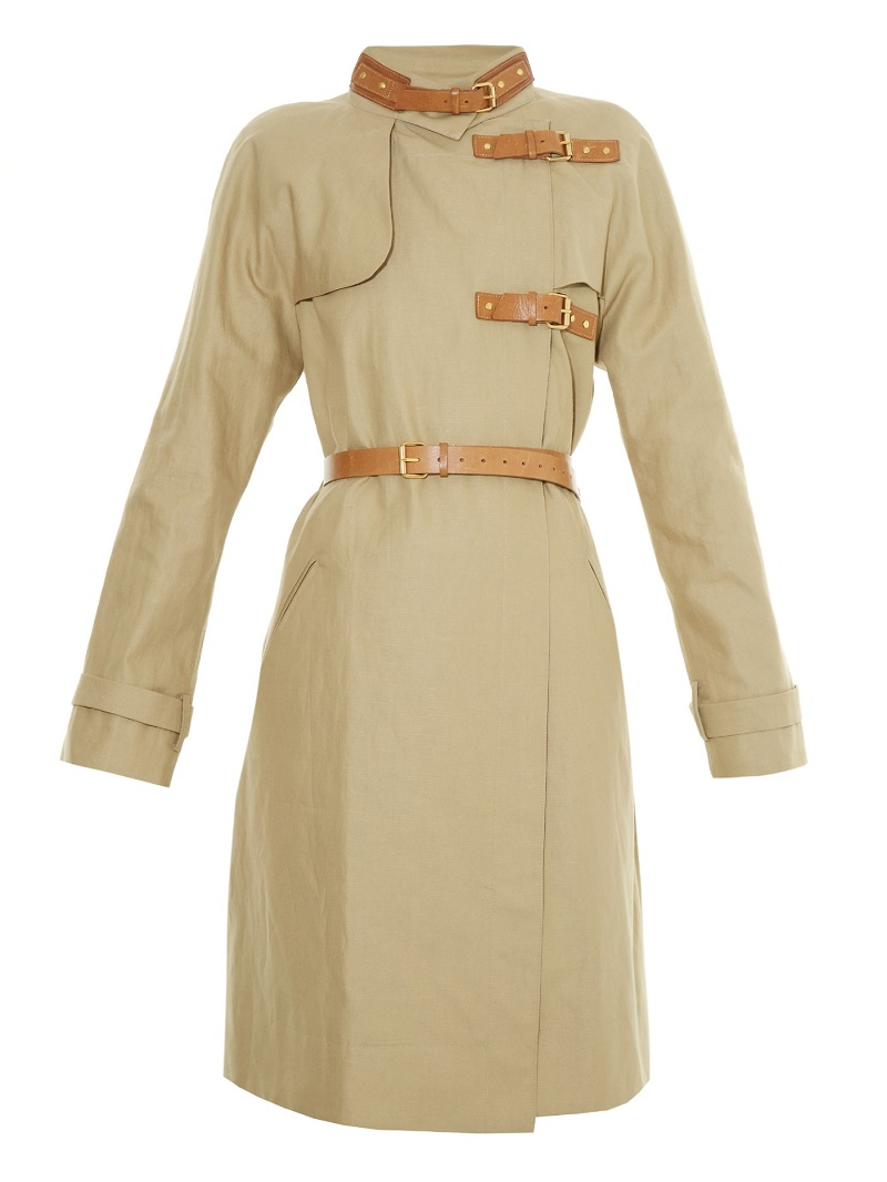 Isabel Marant Hanya leather-belted trench coat