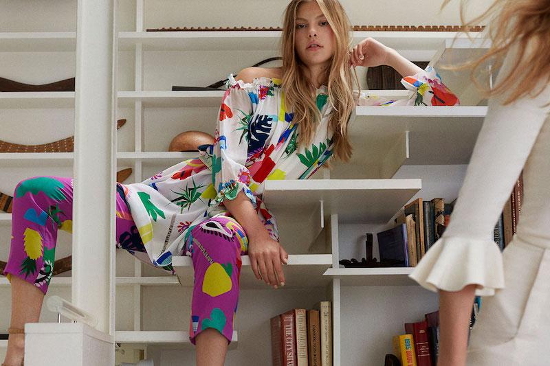 Isolda Silk Printed Carlota Trousers