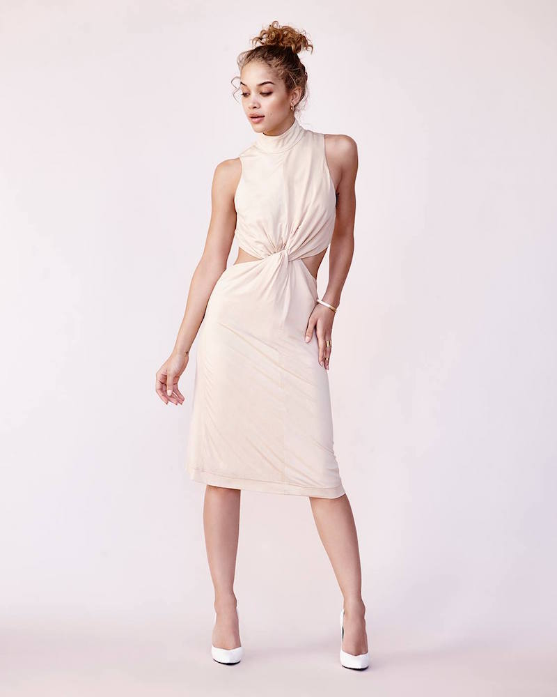 Kendall + Kylie Knot Front Jersey Dress